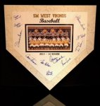 Home Plate Plaque Gift Awards