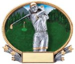 3D Oval -Golf Female Golf Awards