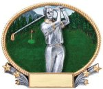 3D Oval -Golf Male  Golf Awards