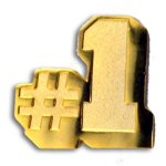 No. 1 Chenille Letter Pin Lapel Pins