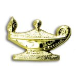 Lamp of Knowledge Chenille Letter Pin Lapel Pins