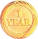 1 Year Pin Lapel Pins