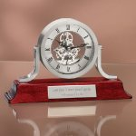 Exposed Gear Desk Clock Mantle Clocks
