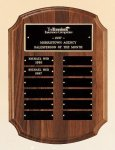 American Walnut Perpetual Plaque Monthly Perpetual Plaques
