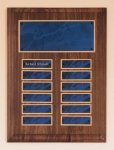 Solid American Walnut Perpetual Plaque Monthly Perpetual Plaques
