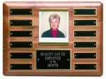 Solid Walnut Perpetual Plaque Monthly Perpetual Plaques