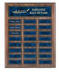 Recognition Pocket Perpetual Plaque with Blue Plates Monthly Perpetual Plaques