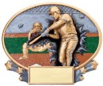 Motion X Oval -Baseball Motion X Oval Resin Trophy Awards