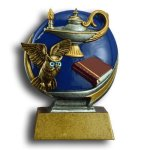 MXG5 Line -Lamp of Knowledge MXG5 Colorful Resin Trophy Awards