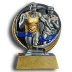 MXG5 Line -Runner Male MXG5 Colorful Resin Trophy Awards