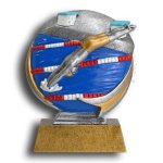 MXG5 Line -Swimming Male MXG5 Colorful Resin Trophy Awards