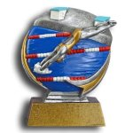 MXG5 Line -Swimming Female MXG5 Colorful Resin Trophy Awards