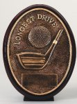 Longest Drive Oval Oval Resin Trophy Awards