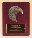 Antique Eagle Rosewood Piano Finish Plaque Patriotic Awards