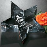 Slanted Star Paperweight Patriotic Awards