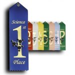 Science - 1st Place Ribbon Peaked Top Award Ribbons
