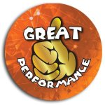 Great Performance School Button Promotional Buttons