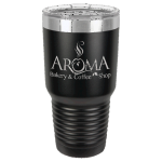 Stainless Steel Ringneck Double Wall Insulated Tumbler -Black Promotional Mugs