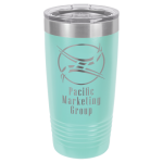 Stainless Steel Ringneck Double Wall Insulated Tumbler -Teal Promotional Mugs
