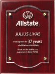 Rosewood Plaque With Floating Acrylic Sales Awards