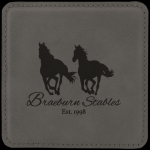 Leatherette Square Coaster -Gray Sales Awards