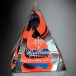 Swirl Pyramid - Red/Blue Sales Awards