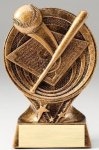 Saturn Series Resin Trophy -Baseball Saturn Series Sculpted Antique Gold Resin Trophy A
