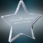 Crystal Star Paperweight Secretary Gift Awards