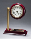 Rail Station Rosewood Piano Finish Photo Desk Clock Secretary Gift Awards