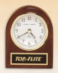 Rosewood Piano Finish Desk Clock Secretary Gift Awards
