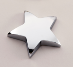 Chrome Star Paper Weight with Felt Bottom. Secretary Gift Awards