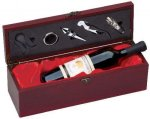 Wine Box With Red Satin Lining Secretary Gift Awards