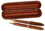 Rosewood Pen, Pencil & Case Set Secretary Gift Awards