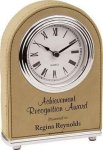 Light Brown Leatherette Arch Clock Secretary Gift Awards