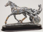 Harness Racing/Sulky Signature Rosewood Resin Trophy Awards