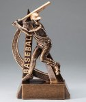 Ultra Action Series Sculpted Antique Gold Resin Trophy -Baseball Male Ultra Action Resin Trophy Awards