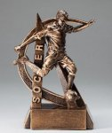 Ultra Action Series Sculpted Antique Gold Resin Trophy -Soccer Male Ultra Action Resin Trophy Awards