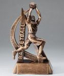 Ultra Action Series Sculpted Antique Gold Resin Trophy -Basketball Male Ultra Action Resin Trophy Awards
