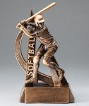 Ultra Action Series Sculpted Antique Gold Resin Trophy -Softball Female Ultra Action Resin Trophy Awards