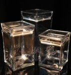 Acrylic Square  Canister Vases