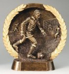 Resin Plate -Soccer Male  Wreath Mini Resin Trophy Awards
