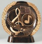 Resin Plate -Music Wreath Mini Resin Trophy Awards